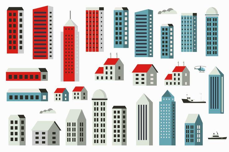 Stadtbaukasten vektor