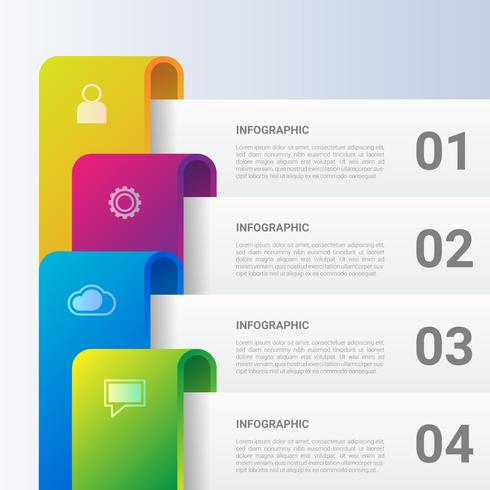 Infographic Schablone 3D für Geschäftsdarstellungsfahne vektor