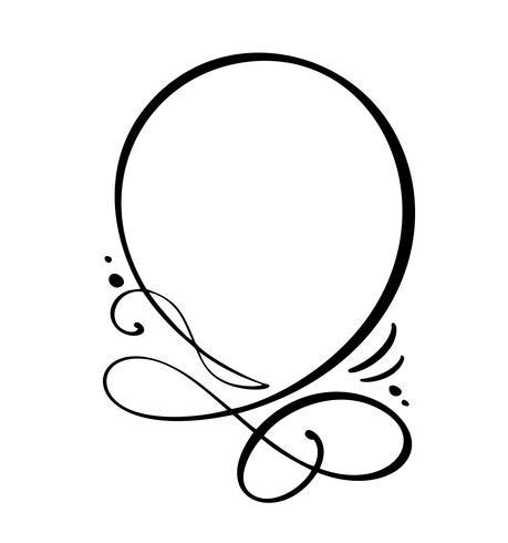 Round calligraphy Quote speech bubble icon. Handritad textram eller rutmall. Vektor illustration. Tankebubbla. Plats för citat eller citera, Ballong för idé, för forum, chatt, kommentar