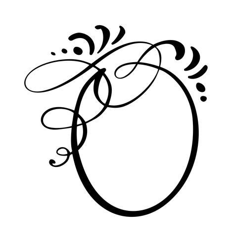 Runde Kalligraphie Zitat Sprechblase Symbol. Hand gezeichnete Textrahmen- oder Kastenschablone. Vektor-illustration Gedankenblase. Ort zum Zitieren oder Zitieren, Ballon für Idee, für Forum, Chat, Kommentar vektor