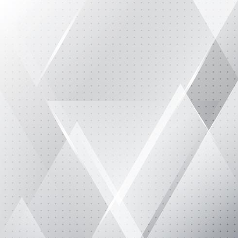 Abstrakte weiße und graue geometrische Fahne mit Dreieckformen überlagern Hintergrund- und Halbtonbeschaffenheit. vektor