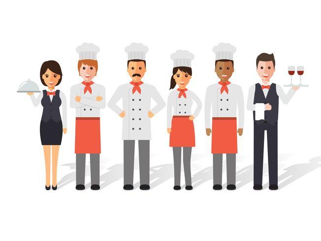 Köche und Restaurantteam. vektor