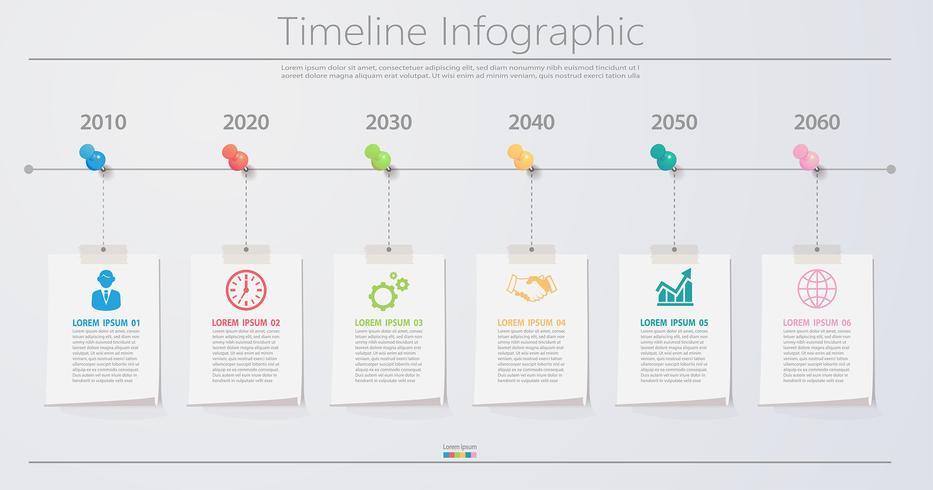 Präsentationsvorlage Geschäft Infographik vektor
