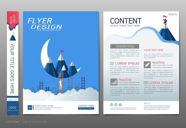 Abdeckungsbuchdesign-Schablonenvektor, Unternehmensneugründungskonzept. vektor