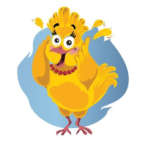 Erschrockene lustige Vektor-Karikatur der Türkei - Illustration des Erntedankvogels in der Panik vektor