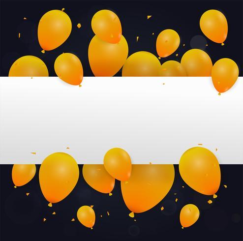 Abstact Ballon Hintergrund. Feier Frohes neues Jahr oder Alles Gute zum Geburtstag. Jubiläum für Einladungen, festliche Plakate, Grußkarten. vektor