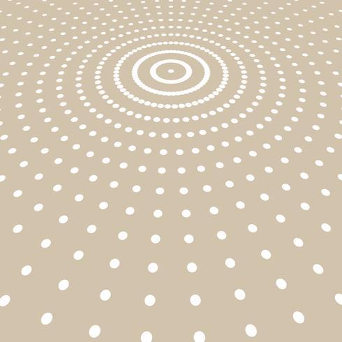 Abstrakte weiße Farbe punktiert Musterhalbtonradius auf hellbraunem Hintergrund. vektor
