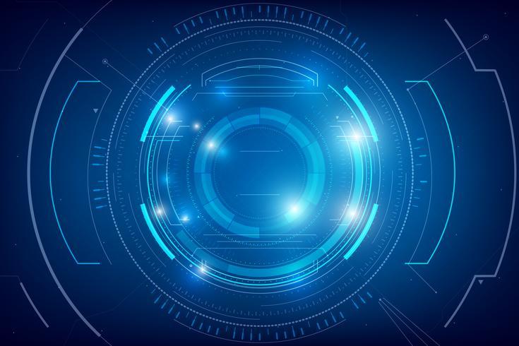 Abstrakter HUD-Technologiehintergrund 007 vektor