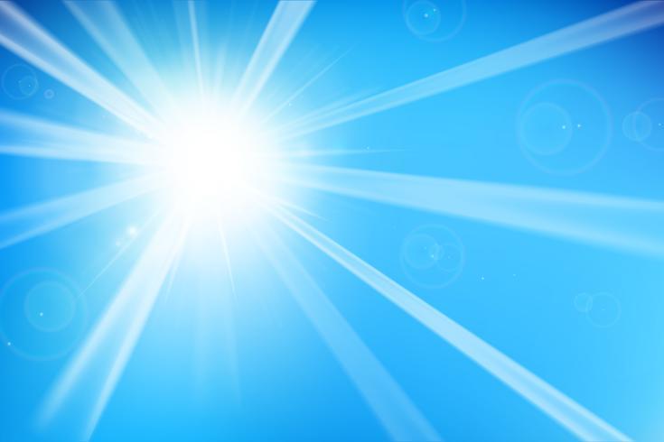 Abstrakter blauer Hintergrund mit Sonnenlicht 002 vektor