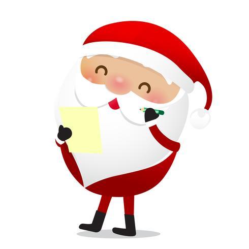 Glad jul karaktär Santa claus tecknad film 024 vektor