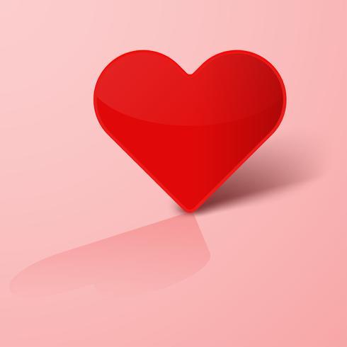 Alla hjärtans dag med hjärtat papper klippt bakgrund. Dekorativa röda hjärtat kärlek. vektor