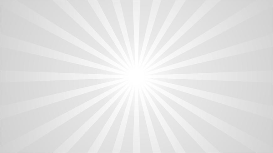Abstrakter grauer und weißer Hintergrund mit Sternexplosionseffekt. und Sunburst Strahlen Element. Sternexplosionform auf Weiß. Radiale kreisförmige geometrische Form. vektor