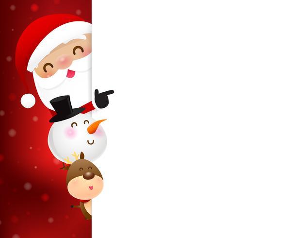 Julen Santa Claus tecknad leende 004 vektor