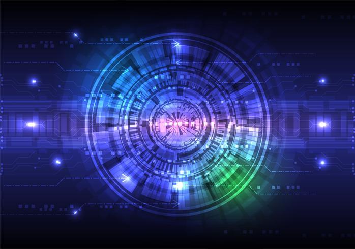 Digitaltechnik-Zusammenfassungshintergrundkonzept, Vektorillustration vektor
