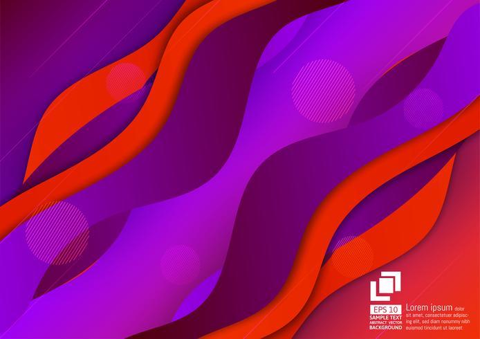 Dynamische purpurrote Farbstrukturierter und geometrischer abstrakter Hintergrund vektor
