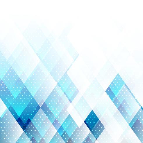 Geometriska element blå färg med prickar abstrakt vektor bakgrund