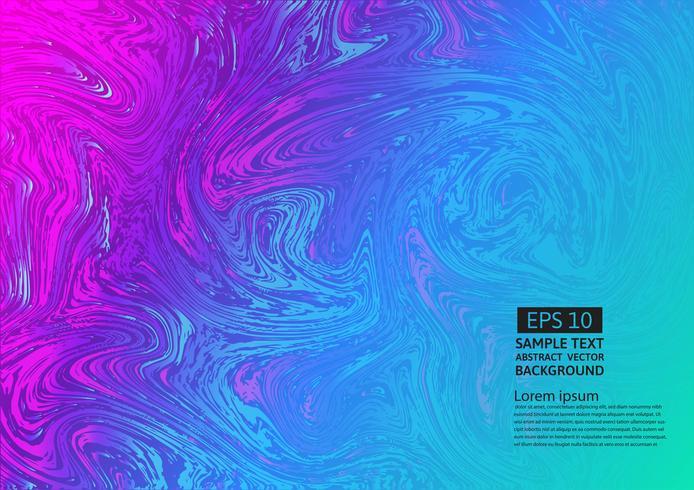 Färgglada flytande abstrakt bakgrund. Vätskegradient former komposition futuristisk design vektor