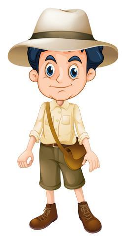 En pojke Scout bär hatt vektor