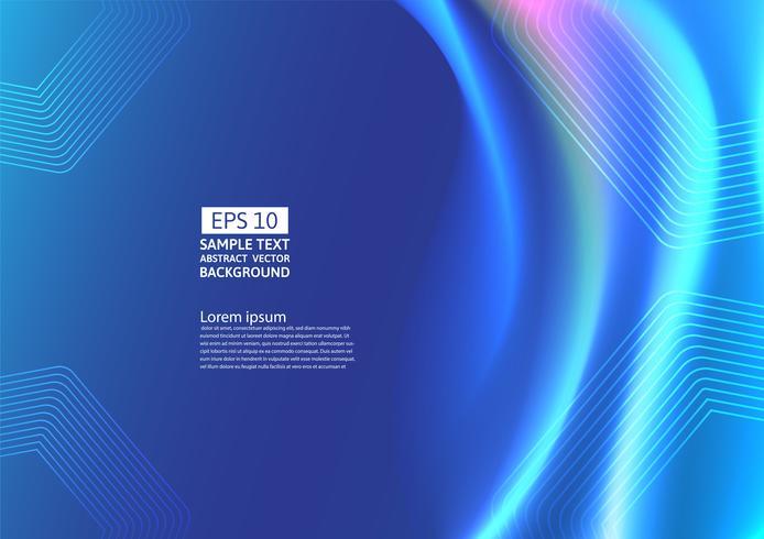 Blå färgvågor och geometrisk abstrakt bakgrundsdesign. vektor illustration