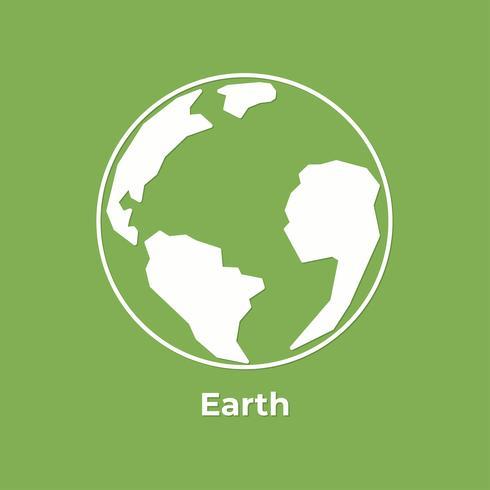 Spara Earth Planet och världen med jordklotet. Världs miljö dagen. platt minimalistisk stil. vektor