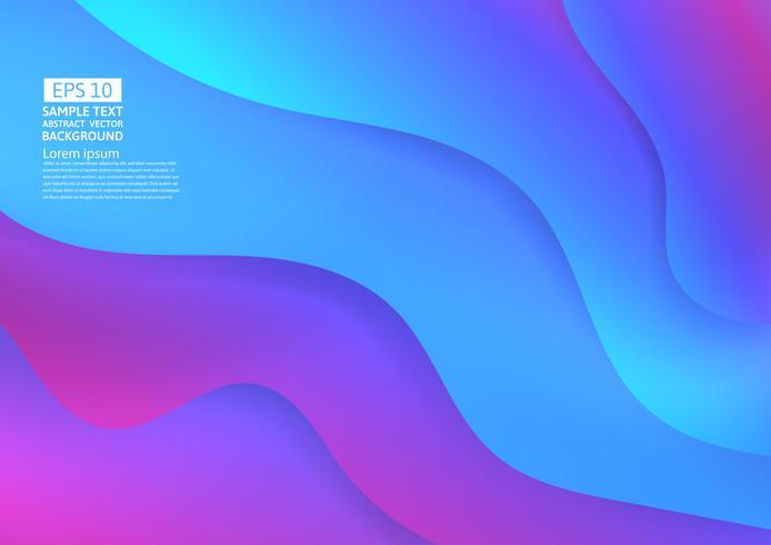 Färgglada vågabstrakt bakgrund. Vätskegradient former komposition modern design vektor