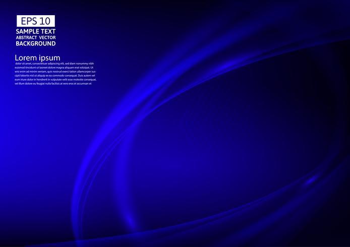 Blaue Farbe bewegt abstraktes Hintergrunddesign wellenartig. Vektor-Illustration vektor