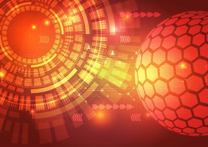 Digitaltechnik-Stromkreis-Zusammenfassungs-Hintergrund-Vektor-Illustration vektor