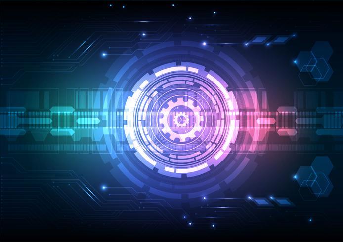 Digital teknik Circuit Abstrakt bakgrund Vector Illustration