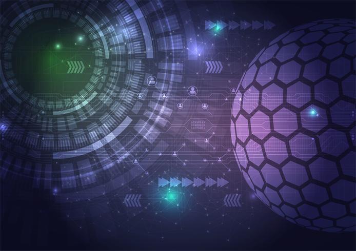 Digitaltechnikkreis-Zusammenfassungshintergrund. Vektorillustratio vektor