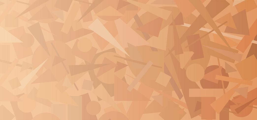 Abstrakt geometrisk formmönster. Chaotisk flödesbild bakgrund vektor