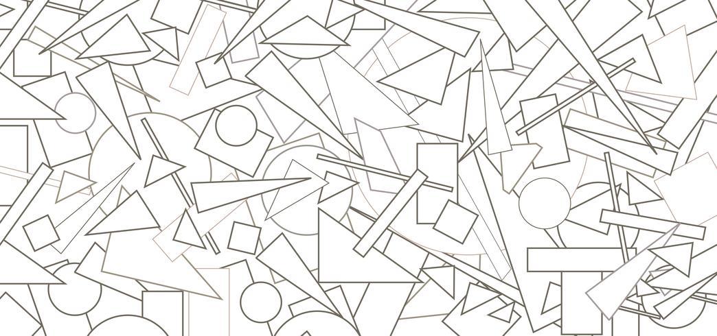Abstraktes geometrisches Formularmuster. Chaotic Flow Figur Hintergrund vektor