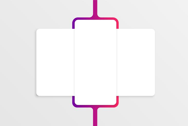 Bunte Kartenschablone für Netznutzung, Vektorillustration vektor