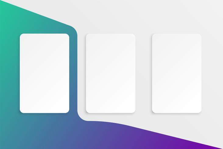 Färgrik kortmall för webbanvändning, vektorillustration vektor