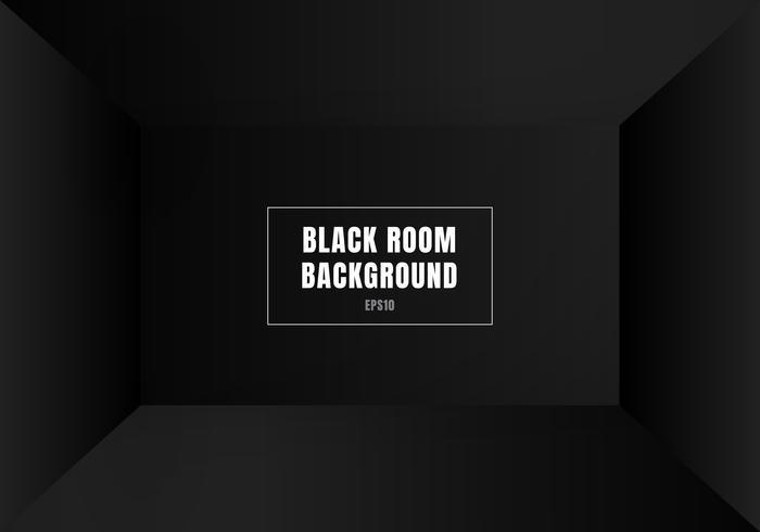 Moderner leerer Innenhintergrund des leeren schwarzen Raumes 3D. Haus, Atelier. Sie können Ihr Geschäftsprojekt als Modell verwenden. vektor