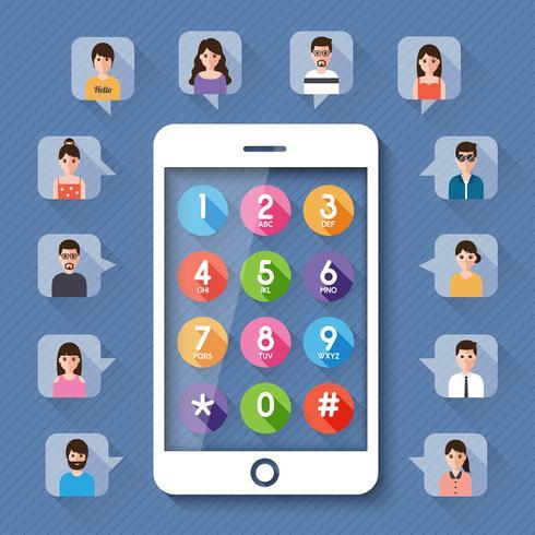 Menschen über ein soziales Netzwerk verbinden. vektor