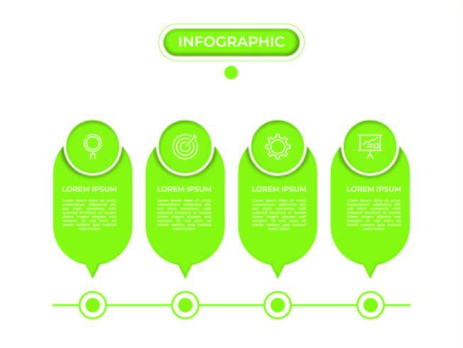 Infografik mit Schritten und Optionen vektor
