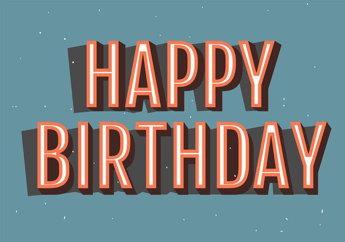 Grattis på födelsedagstypografi i ljusblå Backgorund vektor