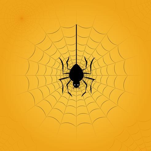 Halloween spindel i webben vektor