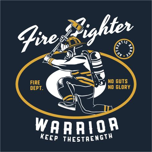 brandkämpe vektor