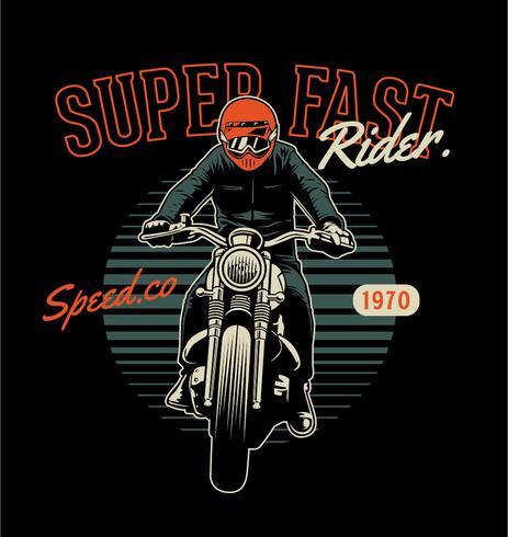 Super snabb Rider vektor