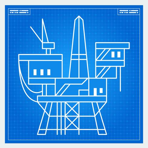 Entwurf für Ölplattformanlage vektor