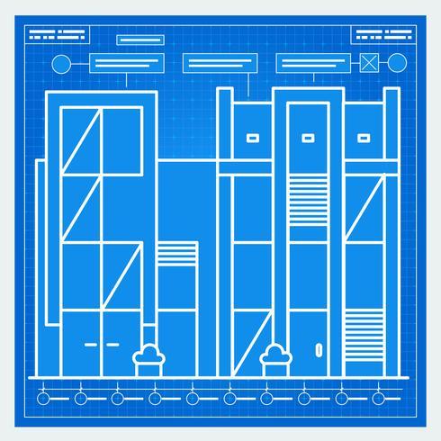 Haus Blaupause vektor
