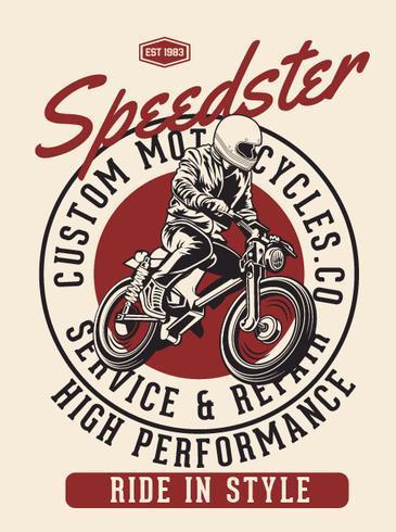 speedster ryttare vektor