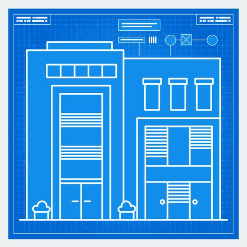 Husets ritning vektor