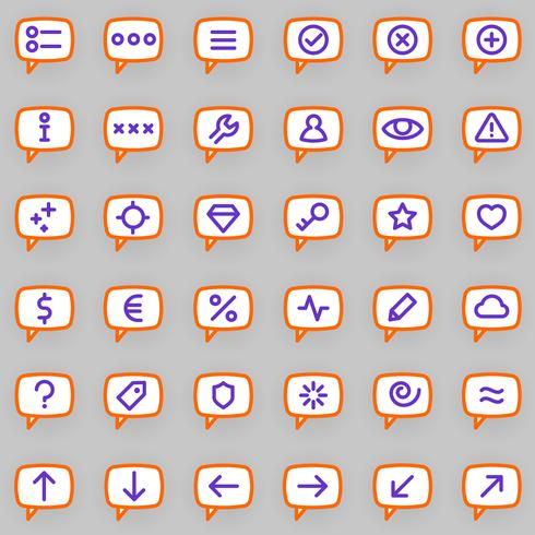 Nachrichtensymbole vektor