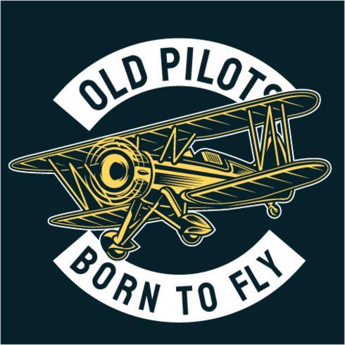 Alter Pilot vektor