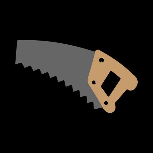 Handsågverktyg för skärning av trä. Tecknad illustration vektor