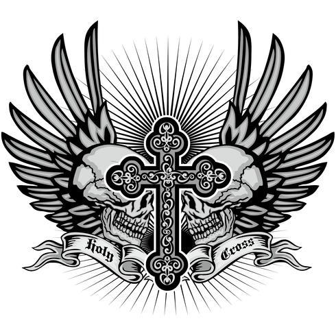Grunge Schädel Wappen vektor