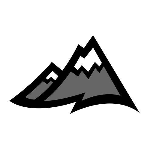 Gebirgszug-Vektor-Symbol vektor