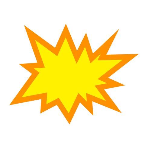 explosionsvektorikonen vektor